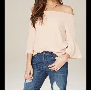 Bebe gorgeous Adeline off shoulder sleeve top XS